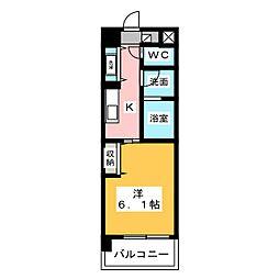 East Court Sakurabashi 5階1Kの間取り