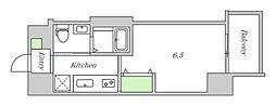 JR大阪環状線 鶴橋駅 徒歩2分の賃貸マンション 5階1Kの間取り