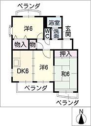 愛知県半田市柊町4の賃貸マンションの間取り