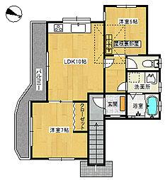 大池戸建て(2階)[2階]の間取り