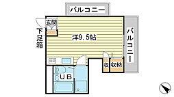 ハイツ日山[2-1号室]の間取り