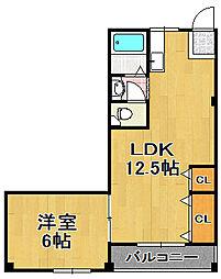 コーポ久栄[3階]の間取り