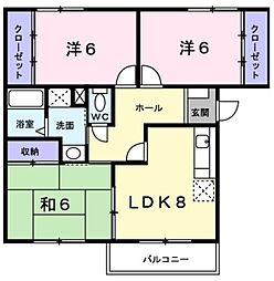 ネオライフ阪南[2階]の間取り