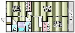 サンフォレスタ和泉[2階]の間取り