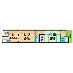 京阪本線 関目駅 徒歩4分の賃貸テラスハウス 1階1LDKの間取り