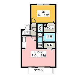 クレセール[2階]の間取り