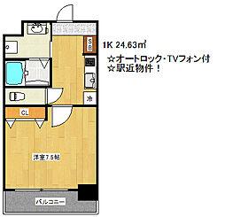 アドバンス神戸グルーブ[6階]の間取り