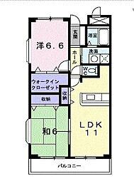 パークアベニュー[6階]の間取り