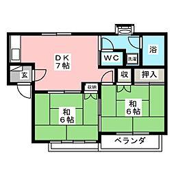ハイツサンフラワーB[2階]の間取り