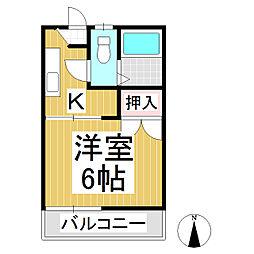 フォーブル南俣 A棟[1階]の間取り
