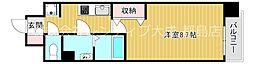 Osaka Metro谷町線 都島駅 徒歩9分の賃貸マンション 9階1Kの間取り