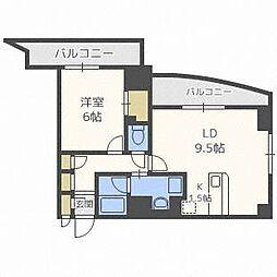 ドミニオンアネックス[8階]の間取り