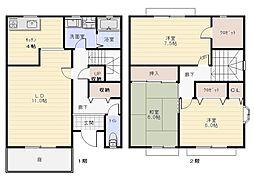 山本町テラスハウス[1階]の間取り