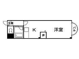 ウイングス札幌[1階]の間取り