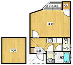 コンフォートベネフィス六本松[1階]の間取り