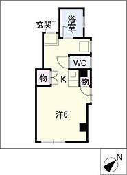 サンシャイン春日井[4階]の間取り