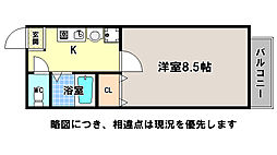 京都府京都市中京区指物町の賃貸マンションの間取り
