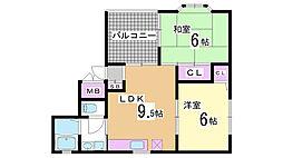 兵庫県神戸市兵庫区大開通5丁目の賃貸マンションの間取り