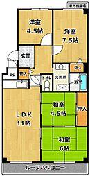 ネオハイツ西宮[1階]の間取り