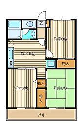 東京都練馬区西大泉6の賃貸アパートの間取り