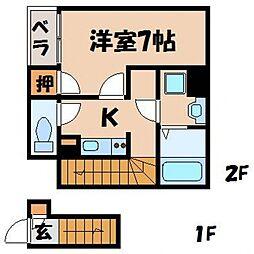 クレイノアネックス[2階]の間取り