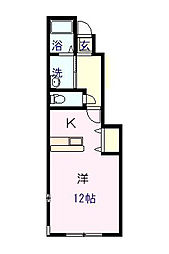 中村ハイツ ミレ102[102号室]の間取り