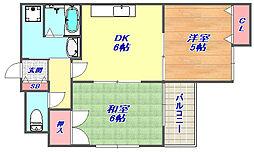 金栄ビル西館[7階]の間取り