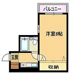 Osaka Metro谷町線 都島駅 徒歩5分の賃貸マンション 6階1Kの間取り