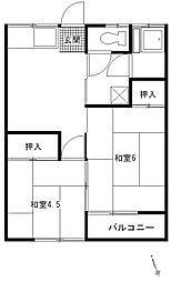 三田荘[202号室]の間取り
