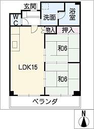 メゾン白菊[1階]の間取り