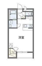 西武秩父線 東飯能駅 徒歩20分の賃貸アパート 2階1Kの間取り