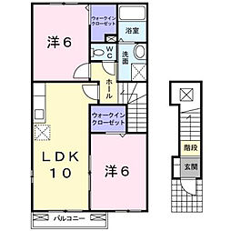プラシード・N II[2階]の間取り