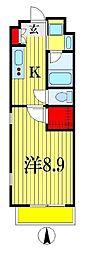 パルティール西船[4階]の間取り
