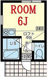 ユナイト戸部ポポロ[2階]の間取り