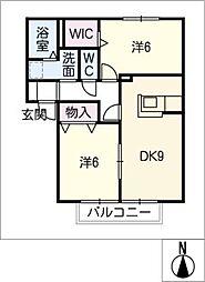 ハウスソレジオ[1階]の間取り