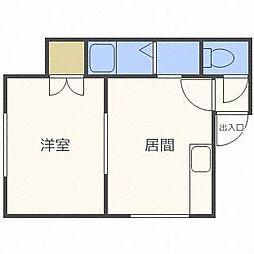 北海道札幌市東区北四十一条東8丁目の賃貸アパートの間取り