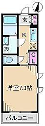 LYNX志茂[5階]の間取り