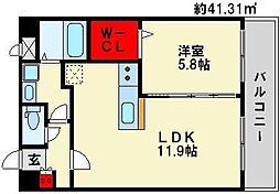 パークサイドソレイユ[3階]の間取り