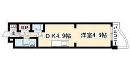 愛知県名古屋市天白区井口2の賃貸マンションの間取り