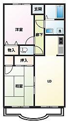 藤和マンションII[3階]の間取り