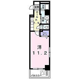 広島県福山市春日町5丁目の賃貸マンションの間取り