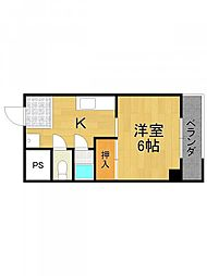 エクシード武庫之荘[4階]の間取り