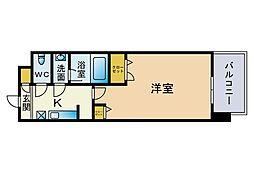 レジデンシャルヒルズ博多駅前弐番館[9階]の間取り