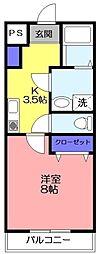 ラボーナ実籾[203号室]の間取り