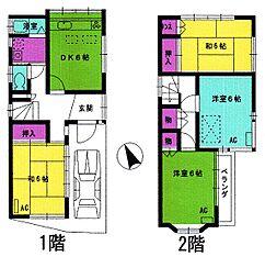 [一戸建] 東京都立川市一番町1丁目 の賃貸【/】の間取り