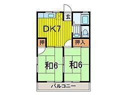 秋本ハイツ[2階]の間取り