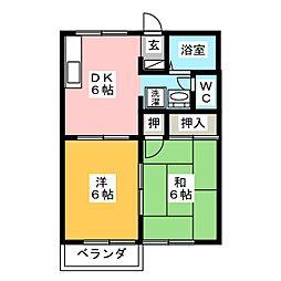 レイクサイドO.S[2階]の間取り