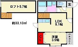 MAC S井尻 Arcadia[103号室]の間取り