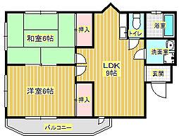 マンション太田[3階]の間取り