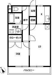 アムールOhnuma(オオヌマ)[203号室]の間取り